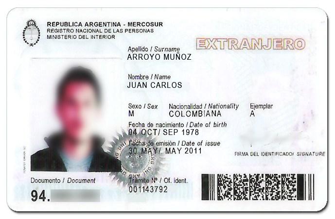 requisitos para obtener el DNI para extranjeros en Argentina