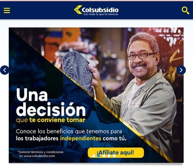 Colsubsidio portal web servicios