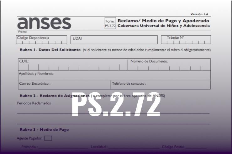 Formulario PS 2.72 modelo