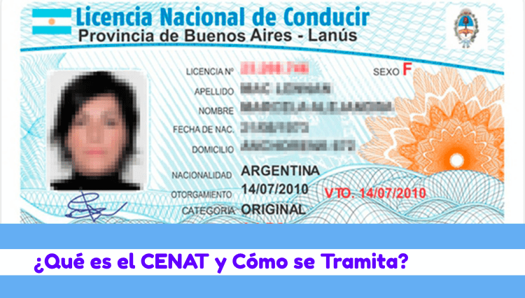 cenat licencia conducir argentina