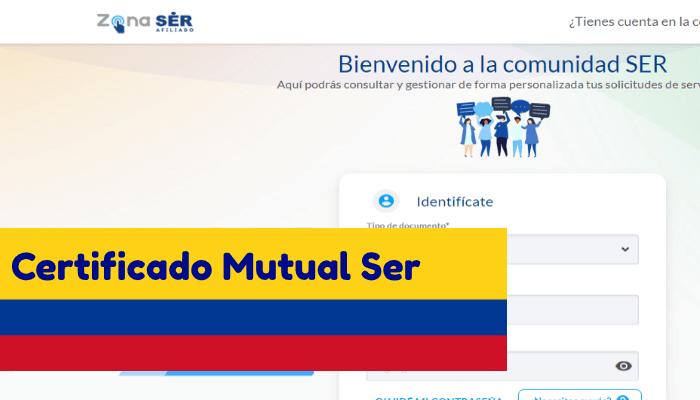 certificado mutual ser colombia tramite descargar