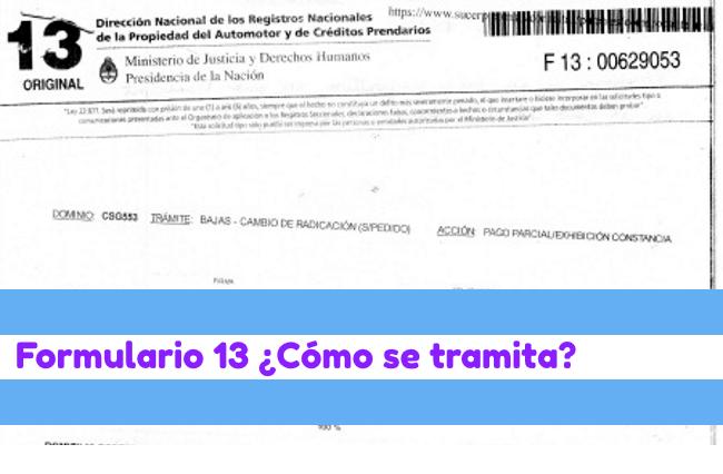 formulario 13 tramite