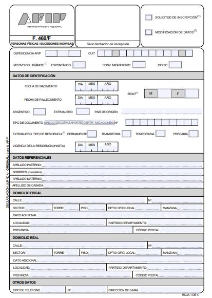 formulario-460-f-afip-hoja-1-llenar