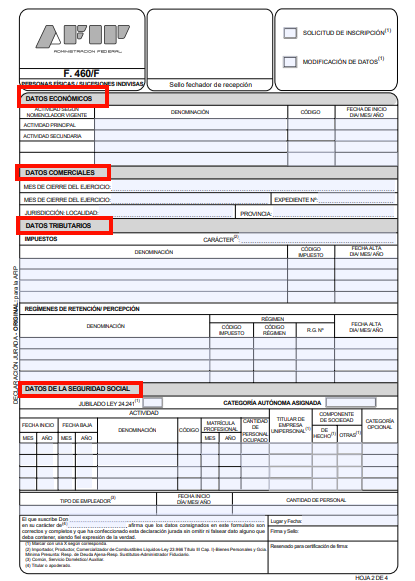formulario-460-f-afip-hoja-2-como-rellenar