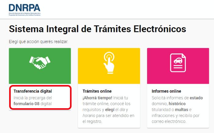 tramite formulario 08 argentina