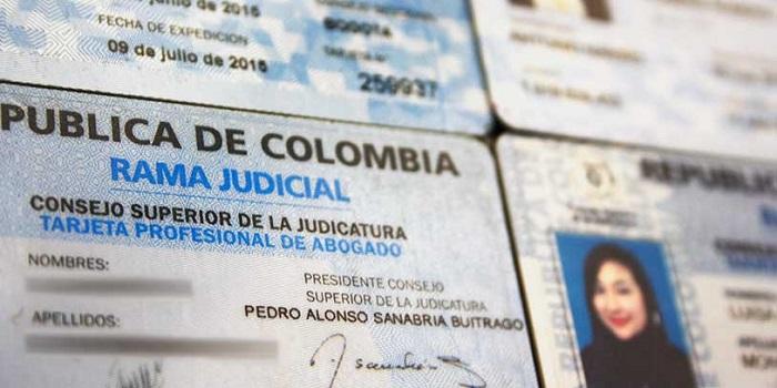 tarjeta profesional de abogado colombia