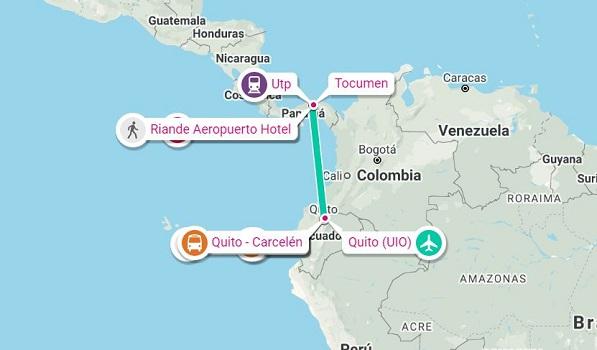 viajar a Panamá desde Ecuador