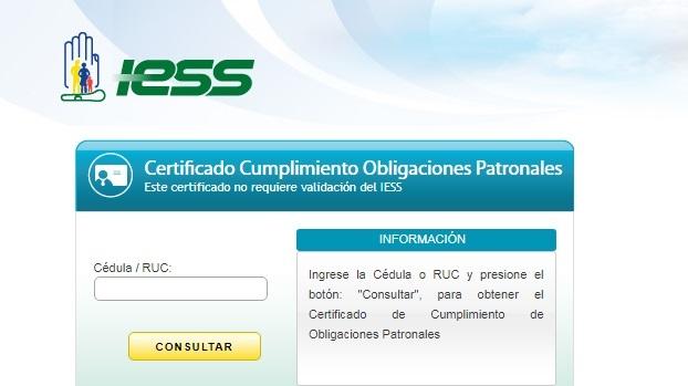 requisitos para sacar el certificado de no adeudar IESS