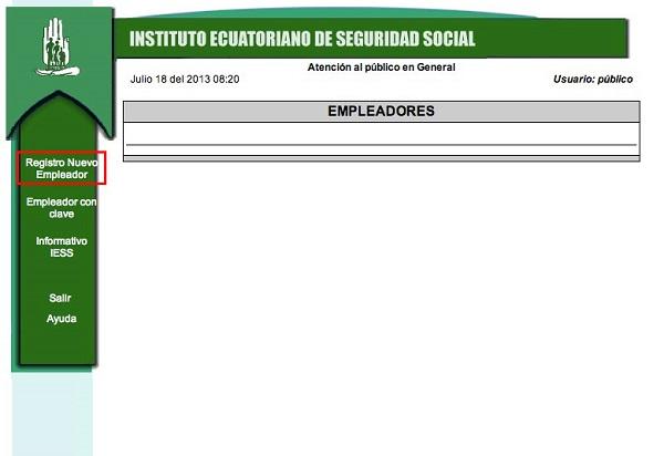 registro del nuevo empleador ecuador