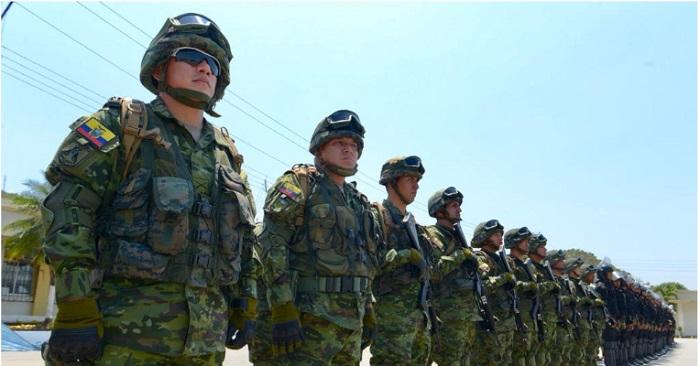 certificado de no pertenecer a las Fuerzas Armadas de Ecuador